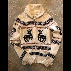 TNA ARITZIA sea to Sky wool zip sweater